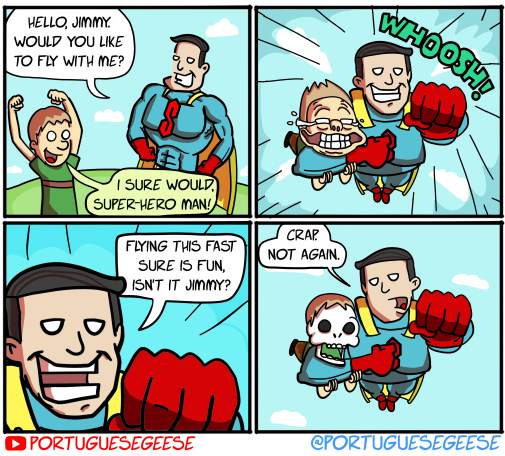 Super-hero Man!